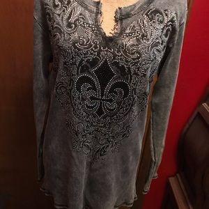 Gray Thermal long sleeve top